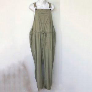 JORDACHE Overalls Size 18 Lightweight Olive Green